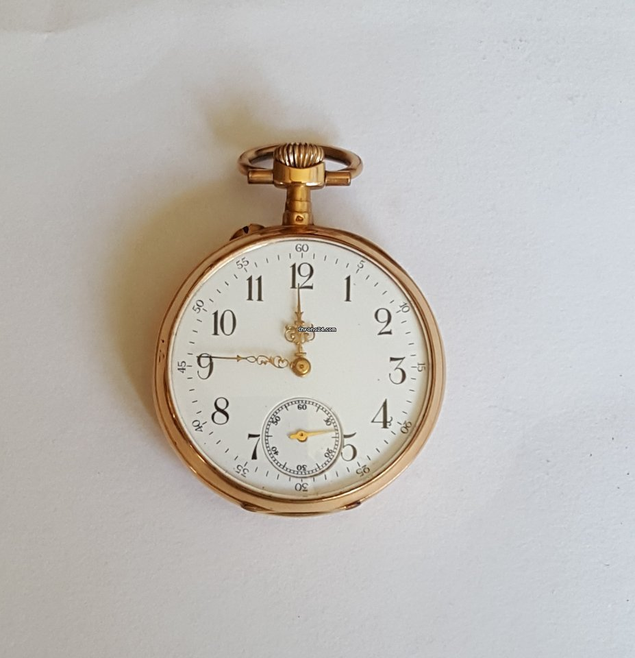Vintage 19th Century Solid Gold Pocket Watch, Working, Avance Retard Movement 1850 pre-owned