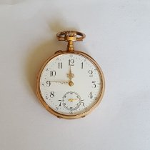 Vintage 19th Century Solid Gold Pocket Watch, Working, Avance Retard Movement Very good Gold/Steel 44mm Manual winding