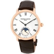 Frederique Constant Manufacture Slimline Moonphase Gold/Steel 42mm Silver United States of America, Florida, North Miami Beach