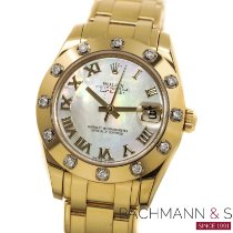 Rolex Pearlmaster Or jaune 34mm Nacre Romains