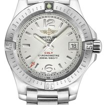 Breitling Colt Lady Steel 33mm Silver Arabic numerals