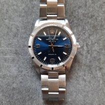 Rolex Air King Precision occasion Bleu Acier