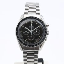 Omega Steel Manual winding Black 42mm pre-owned Speedmaster Professional Moonwatch
