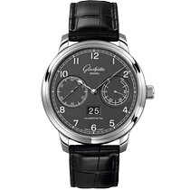 Glashütte Original Senator Observer Steel 44mm Grey Arabic numerals