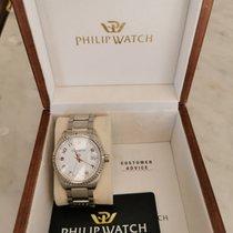 Philip Watch Caribe Steel 38mm White Arabic numerals