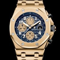 Audemars Piguet Yellow gold Automatic Blue Arabic numerals 42mm new Royal Oak Offshore Chronograph