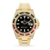 Rolex 116758SARU Yellow gold 2018 GMT-Master II 40mm pre-owned United States of America, Texas, Dallas