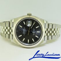 Rolex White gold Automatic Grey No numerals 41mm new Datejust