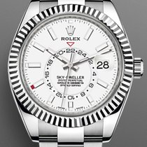 Rolex Sky-Dweller Steel 42mm White No numerals United States of America, New Jersey, Oakhurst