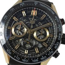 TAG Heuer Carrera Gold/Steel 45mm Transparent No numerals