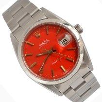 Rolex Oyster Precision Stål 34mm Rød Ingen tall