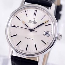 Omega Steel Automatic Silver No numerals 35mm pre-owned Genève