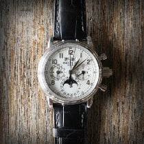 Patek Philippe Perpetual Calendar Chronograph Platino 36.5mm Blanco
