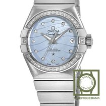 Omega Constellation Ladies Acier 27mm Bleu Sans chiffres