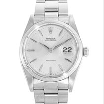 Rolex Oyster Precision Steel 34mm White No numerals