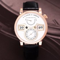 A. Lange & Söhne Red gold Manual winding Silver Arabic numerals 41.9mm pre-owned Zeitwerk