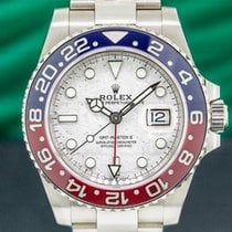 Rolex White gold Automatic Silver Arabic numerals 40mm pre-owned GMT-Master II