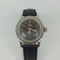 Oris Big Crown Pointer Date pre-owned 36mm Black Date Leather