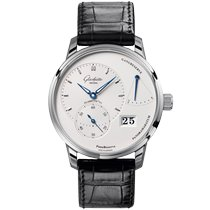 Glashütte Original PanoReserve Steel 40mm Silver No numerals