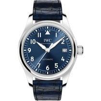 IWC Pilot's Watch Automatic 36 Çelik 36mm Mavi Arap rakamları