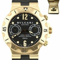 Bulgari Diagono Yellow gold 38mm Black Arabic numerals United States of America, New York, Lynbrook