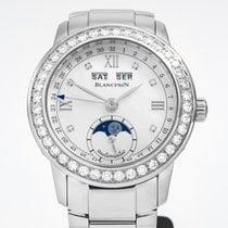Blancpain Женские часы Léman Moonphase 34mm Автоподзавод новые Часы с оригинальными документами и коробкой 2015