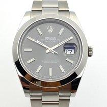 Rolex Datejust Stahl 41mm Grau Keine Ziffern Deutschland, Rheinstetten - Karlsruhe