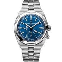 Vacheron Constantin Overseas Dual Time Acier 41mm Bleu Sans chiffres
