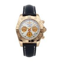 Breitling Chronomat 41 Oro rosa 41mm Blanco Sin cifras