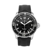 Blancpain Fifty Fathoms pre-owned 45mm Black Date Textile