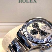 Rolex Daytona Белое золото 40mm Cерый Aрабские
