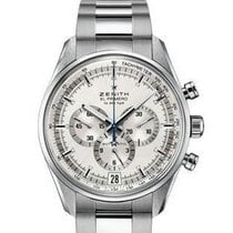 Zenith El Primero 36'000 VpH pre-owned 42mm Silver Chronograph Date Steel
