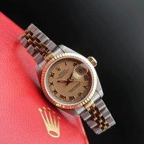 Rolex Lady-Datejust Or/Acier 26mm Champagne Sans chiffres