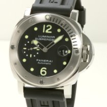 沛納海 Luminor Submersible 鋼 44mm 黑色 阿拉伯數字