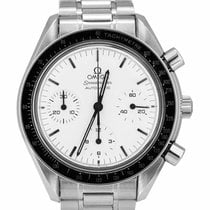Omega Speedmaster Reduced Ατσάλι 39mm Άσπρο