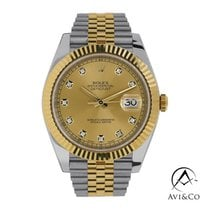 Rolex Datejust Steel 41mm Champagne No numerals United States of America, New York, New York