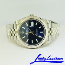 Rolex Steel Automatic Blue No numerals 41mm new Datejust