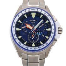 Seiko Marinemaster Titanium 48.5mm Blue No numerals United States of America, Florida, Hollywood