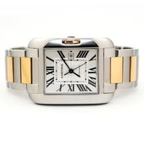 Cartier Tank Anglaise pre-owned 39.2mm Silver Date Gold/Steel