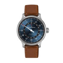 Meistersinger Perigraph Steel 43mm Blue No numerals United Kingdom, Chester