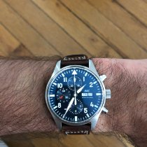IWC Pilot Chronograph Acier 43mm Bleu Arabes France, Paris