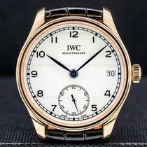 IWC Portuguese Hand-Wound Złoto różowe 43.2mm Biały Arabskie