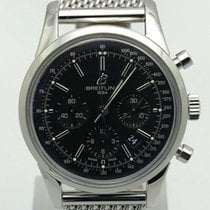 Breitling Transocean Chronograph pre-owned 43mm Black Chronograph Date Steel