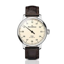Meistersinger N° 03 Steel 43mm Champagne Arabic numerals United Kingdom, Chester