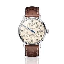 Meistersinger Pangaea Day Date Steel 40mm Champagne No numerals United Kingdom, Chester