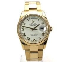 Rolex Day-Date 36 usados 36mm Blanco Fecha Día de la semana Oro amarillo