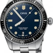 Oris Divers Sixty Five Steel Blue No numerals United States of America, New York, Brooklyn