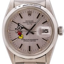 Rolex Oyster Perpetual Date Stahl 34mm Silber