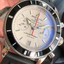 Breitling Superocean Héritage Chronograph occasion 44mm Blanc Chronographe Date Caoutchouc