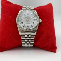 Rolex Lady-Datejust Staal 31mm Wit Romeins